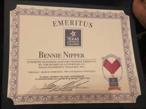 Bennie Board Member Emeritus