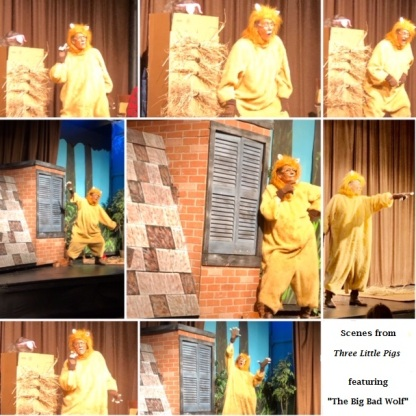 Collage from The Three Little Pigs 2020
